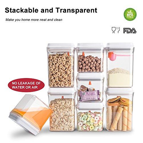 0.5 L caf/é y terrones de az/úcar recipientes herm/éticos de almacenamiento de alimentos jarra para espaguetis pl/ástico AS 1.5 L set de 2 Dispensador de cereales/Ankou,/sin BPA
