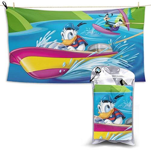 TUCBOA Toallas De Playa,Toalla De Baño De Secado Rápido Donald Duck Goofy, Toallas De Baño Unisex Decorativas para Viajes Deportivos Deportivos,70x140cm