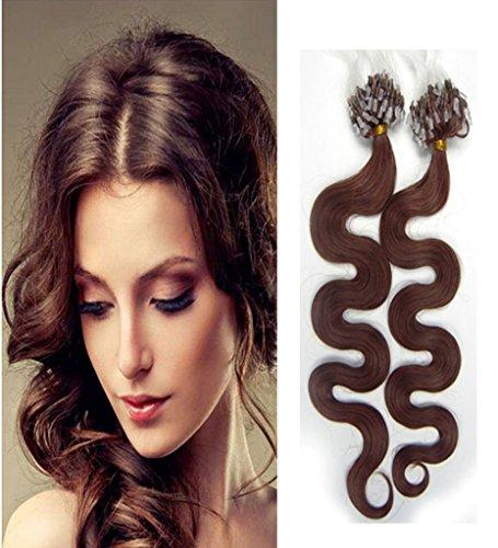 RemeeHi 38,1 - 81,3 cm mèches 70 g 0,7 G/S 100% Brésilien extensions de cheveux humains facile Boucle Anneaux Micro Perles Pointe Body Wave Extensions