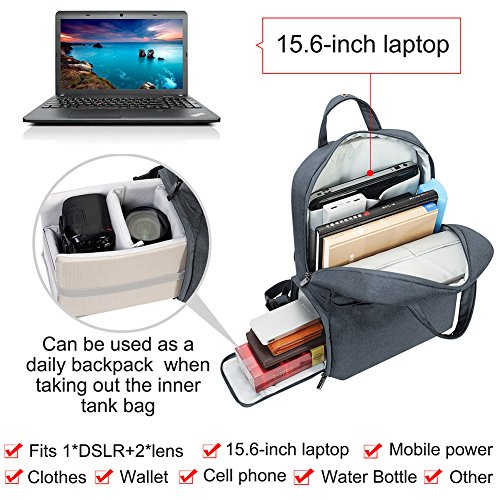 CADeN Travel DSLR SLR Camera Backpack Waterproof Anti-Theft Camera Bag with USB...