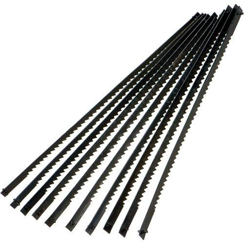 Silverline 580485 10 lames pour scie à chantourner 130 mm 24 TPI
