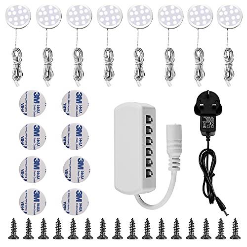 Lampop Under Cabinet Light Kit LED Puck Lights Counter Lighting UK Plug for...