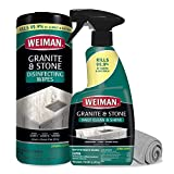 Weiman Disinfectant Granite Cleaner Kit - Safely Clean Disinfect and...