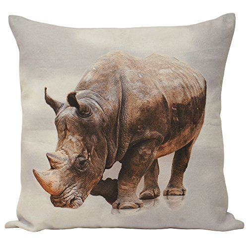 Riva Paoletti Animal Rhino-Cojín (55 x 55 cm), Multicolor, Poliéster, 55 cm x 55 cm