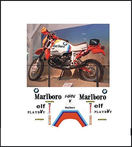GRAPICHSMOTO Kit Adesivi Decal stikers compatile R80 GS Team Paris Dakar 1985 (Ability to Customize The Colors)