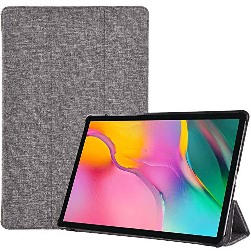 ProCase Galaxy Tab A 10.1 Case 2019 T510 T515 T517, Slim Light Cover Stand Hard Shell Folio Case for 10.1 Inch Galaxy Tab A 2019 Tablet SM-T510 SM-T515 SM-T517 -Grey