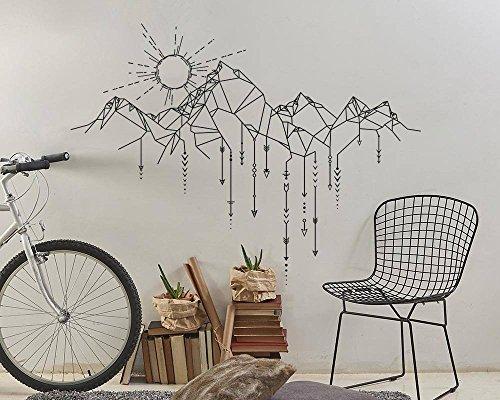 Tianpengyuanshuai Muursticker vinyl sticker zon berg pijl muur kunst ontwerp woonkamer huisdecoratie