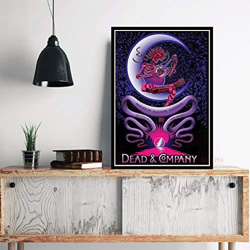 xiangpiaopiao The Grateful Dead Wall Art Canvas Painting Posters E Impresiones para La Decoración del Hogar del Dormitorio De La Sala De Estar 40X50Cm (6R-5313)