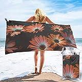XCNGG Toallas de baño Toallas de Playa Toallas de Secado rápido Beach Towels Daisy Flowers Quick Dry Lightweight Towel Blanket, Sand Free Soft Absorbent Bath Towels for Teens, Adults, Yoga