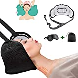 Head Hammock for Neck Pain Relief, Portable Cervical Traction Device, Neck Stretcher and Support with Durable Elastic Safety Cords and Adjustable Straps