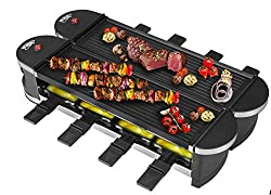 Budget Choice for Best Raclette Grill: Artestia Electric Dual Raclette Grill With Aluminum Grill Plate