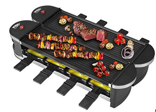 Artestia Electric Dual Raclette Grill With Aluminum Grill Plate