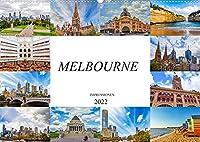 Melbourne Impressionen (Wandkalender 2022 DIN A2 quer): Zwoelf beeindruckende Bilder von der Metropole Melbourne (Monatskalender, 14 Seiten )