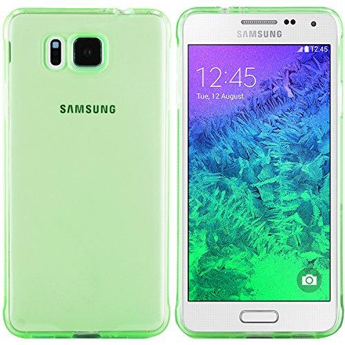 moodie Silikonhülle für Samsung Galaxy Alpha Hülle in Grün (rutschfest) - Case Schutzhülle Tasche für Samsung Galaxy Alpha