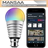 Mansaa Smart Led Bulbs for Home Multi Color 10W Wi-Fi, Dimmable, Compatible with Google Home & Amazon Alexa Bulb (B22 Pin Holder) - S1 16x