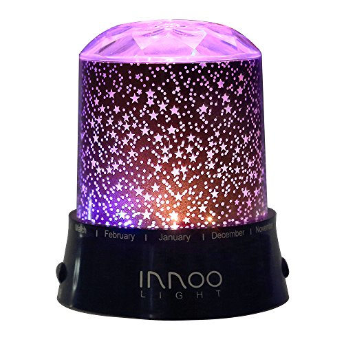 InnooLight Star Led Light Projector Baby Night Light Relaxing Mood Light for Children Kids Baby Nursery Bedroom and Christmas Gift Battery Operated