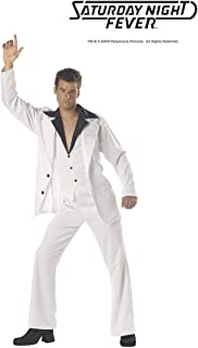 California Costumes Men's Saturday Night Fever Costume, White, Medium (40-42)