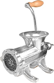 Weston #32 Manual Tinned Meat Grinder and Sausage Stuffer (36-3201-W), 2 plate sizes, +3 sausage funnels