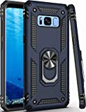 Galaxy S8 Case,(NOT for Big S8 Plus) ZADORN 15ft Drop Tested,Military Grade Heavy Duty Protective Cover with Hard PC and Soft Silicone Kickstand Phone Case for Samsung Galaxy S8 5.8' Blue
