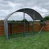 FeelGoodUK Walk in Pet Cage 1.4m x 3m Galvanised Pet Run Chicken Coop