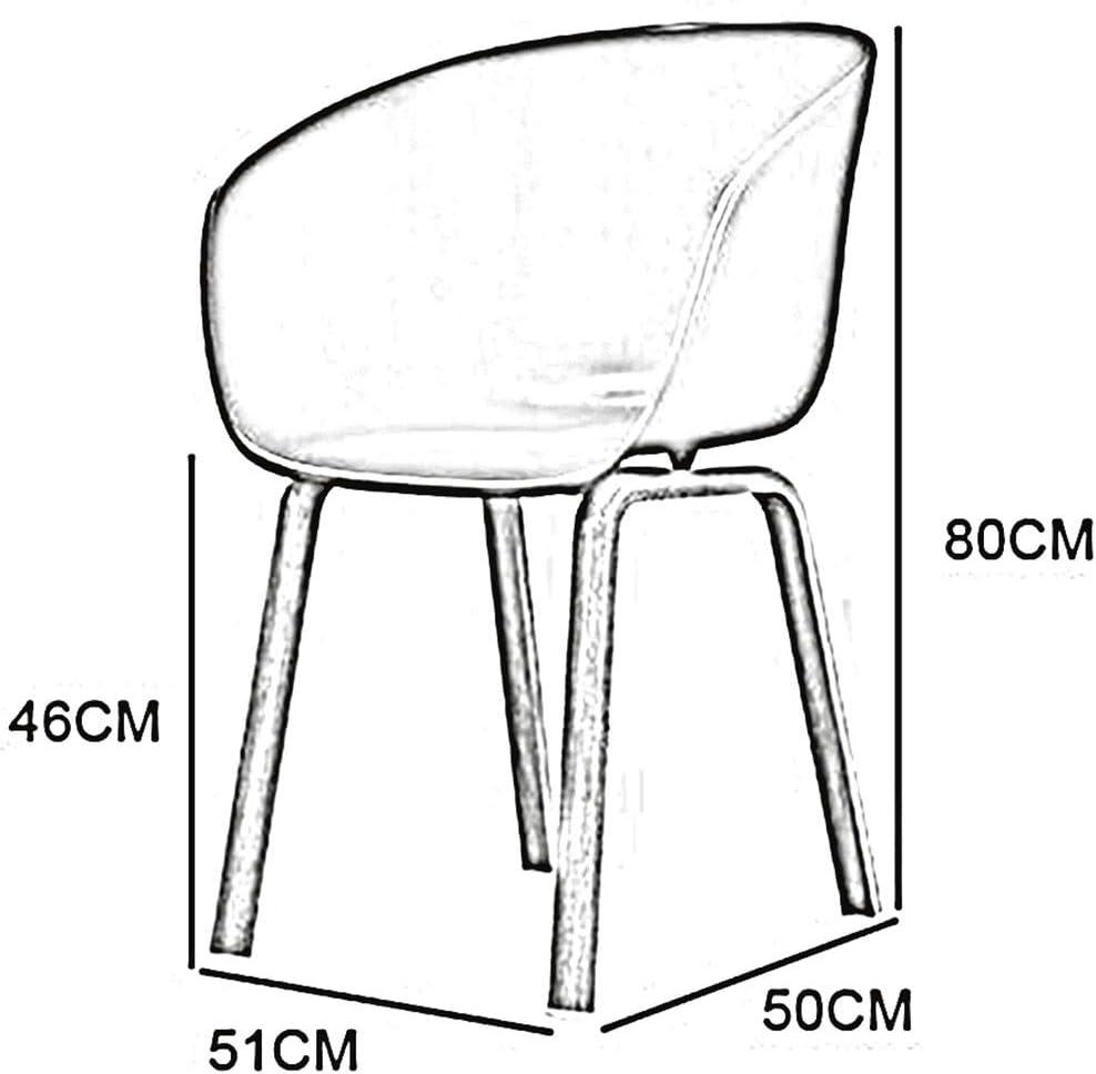 WYYY chaises chaise de salle à manger PP dossier de siège en fer forgé couleur pieds de table chaise de meubles modernes Assemblée 50×51×80cm durable solide Jaune