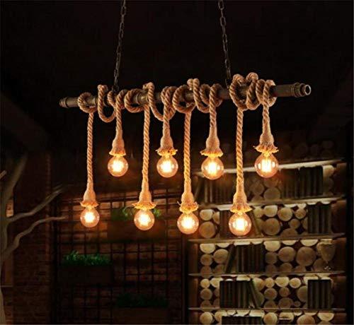 SGWH ® Interieurverlichting, kroonluchter, kroonluchter, hanglamp, kroonluchter, plafondverlichting, lamp, waterleidingen, creatieve hanglamp, 220 V, H 90 cm x L 127 cm