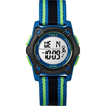 Timex Kids TW7C26000 Time Machines Digital 35mm Blue/Black/Green Double-Layered Nylon Strap Watch