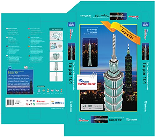 """Puzzle 3D Pop out World–World Architecture Series """"Taipei 101–Taipei"""""""
