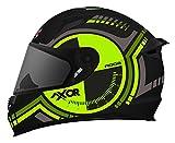 Axor Designer Full Face Helmet ( AXR-09 ) (Large -58 Cms, Plain Visor)