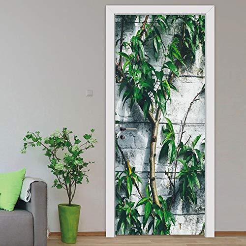 Mural Para Puerta Árbol Creativo 3D Sala De Estar Dormitorio Desmontable Autoadhesivo Papel Pintado Puertas 77 X 200 cm