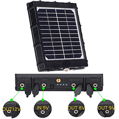 BOBLOV Trail Camera Solar Panel 8000mAh Ondersteunt 3 Voltages 12V/1.2A 9V/1.6A 6V/2.4A 3W IP54 Waterdichte Oplader voor Alle Jacht Game Camera Alle 3G 4G Trail cam