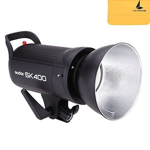 Godox SK400 400WS GN65 スタジオ フラッシュ ストロボ ライトSKシリーズ 150W モデリング ランプ付き ポー...