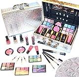 Exklusive Kosmetik Make-up ALU Schminkkoffer mit Reliefmuster 41 teilig gefüllt