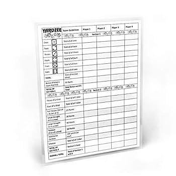 yahtzee game sheet