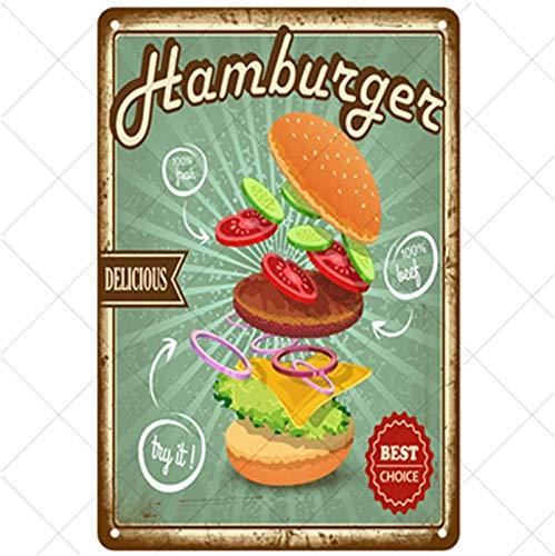 Hamburg Metall Zinn Zeichen Malerei für Bars Plakette Plakat für Cafe Bar Pub Bier Wanddekoration Höhle Bier Zeichen Kunst Nostalgische Blech Zeichen Dekor , 30x20cm