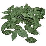 Supvox Künstliche Seidenblätter Gefälschtes grünes Laub für DIY Girlande Party Hochzeit Garten Dekoration 100 Stück