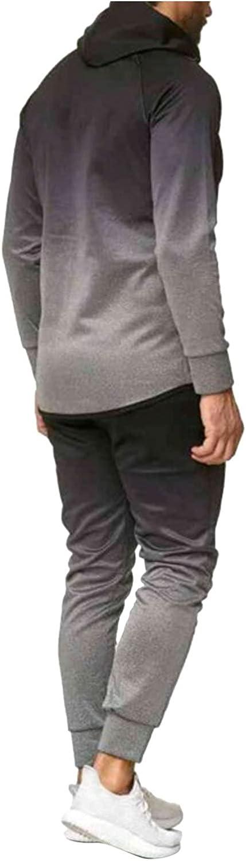 FORUU Mens Tracksuit Set 2021 Winter 2 Piece Jogger Suit Zip Up Hoodies and Sweatpant Sets Casual Sweat Suit Men Outfits