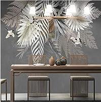 写真の壁紙3D立体空間カスタム大規模な壁紙の壁紙 葉の壁の装飾リビングルームの寝室の壁紙の壁の壁画の壁紙テレビのソファの背景家の装飾壁画-200X140cm