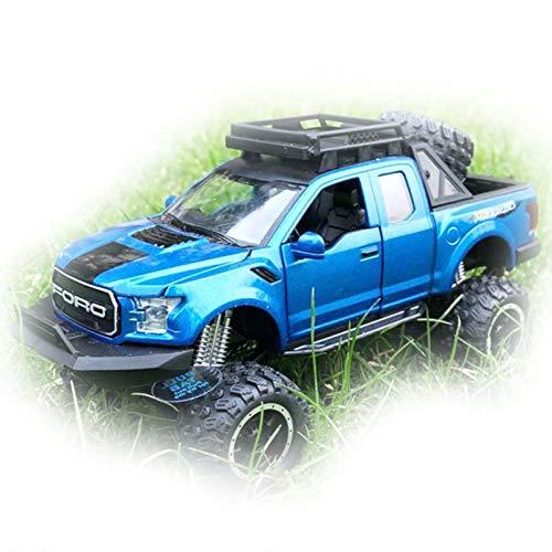 BWHM Modelo De Coche Famoso 1:32 para Ford Raptor F150 Camioneta De Juguete De Metal Aleación Diecast Modelo De Coche Juguetes De Regalo para Niños (Color : Azul)