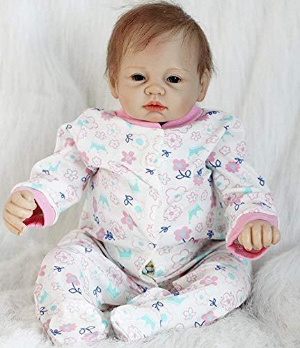 Realistic Reborn Baby Dolls Girl 22 Inches Lifelike Silicone Newborn Baby Doll Soft Vinyl Reborn Dolls with Clothes