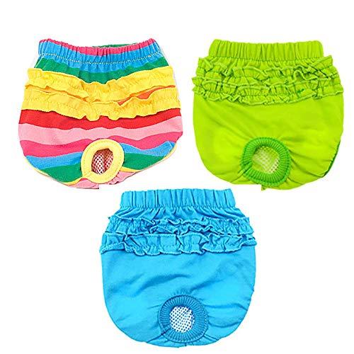 Hündin, hygiënische luier, fysiologische warmte, broek voor meisjes, herbruikbaar, ademend, shorts voor puppy's