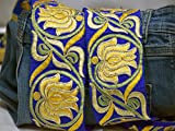 9 yardas al por mayor decorativo sari cinta amarilla decoración del hogar ajuste para vestido bordado vestido de boda cinta india ropa artesanía frontera costura cortinas encaje
