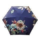 CROW Ultraleichter fünffacher Faltschirm, Sonnenschutz- und UV-Schutzschirm, tragbarer Damen-Vinylschirm, Unisex-Regenschirm, gemeinsamer Regenschirm-C1
