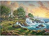 JINZUO 1000 Pièces Puzzle Enfant Adultes Bois 3D 8 Ans Fille Garcon Paysage Classique Jouets Art Déco Cadeau Femme Homme Havre De Mer