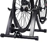 Blitzzauber 24 Entraîneur Turbo de Vélo Turbo Trainer Home Trainer pour Vélo Noir en Acier avec Accessoires d'Installer