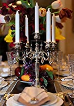 Candles & Guiart 7-Hour White Dinner Candles, Smokeless Lighted Candles 8 Inch Tall by 0.86 Inch