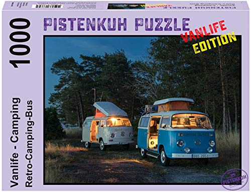 PISTENKUH Puzzle - Vanlife Edition - Retro-Camping-Bus - 1000 Teile