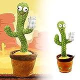 Funthy Juguete De Peluche En Forma De Cactus Bailarin, Juguete De Cactus Bailando con 120 Canciones En Inglés, Cantando Y Grabación Interesantes Juguetes Educativos De Educación Temprana-Battery