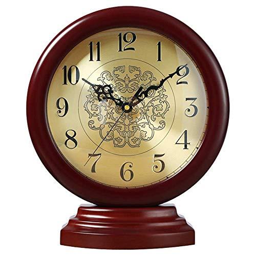 Reloj de manto, Reloj de escritorio silencioso retro, Reloj de manto decorativo para el hogar, Relojes de mesa silenciosos, Funciona con pilas, Para sala de estar Dormitorio Cocina junto a la cama (C