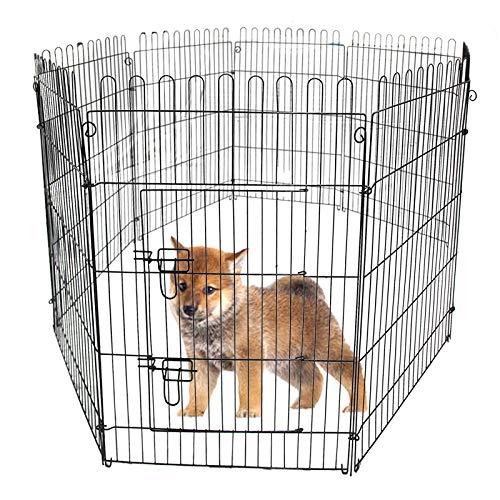 WEIMALL ペットサークル 折りたたみ 8面サークル 高さ92cm ペットケージ ペットフェンス ケージ ゲージ サークル トレーニングサークル 犬用ケージ 小型犬用 中型犬用 屋内用 屋外用 室内用 犬小屋 犬 ペット ペット用品